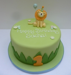 Lion 1st Birthday Cake